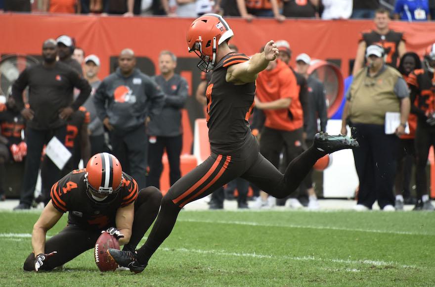 757c0dac Cleveland Browns kicker gets a mezuzah, makes a game-winning field ...
