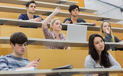 Illustrative image of students in a lecture hall (Wavebreakmedia; iStock by Getty Images)