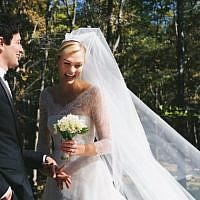 Jared Kushner's brother Josh and supermodel Karlie Kloss, who converted to Judaism for him, tied the knot. (Karlie Kloss/Twitter via JTA)
