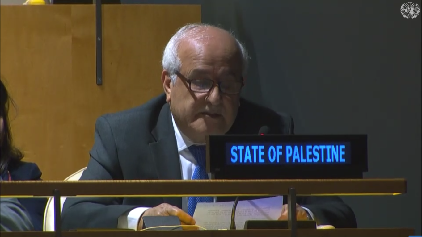 U.N. Appoints Palestine as Chair of G77 Developing Nations
