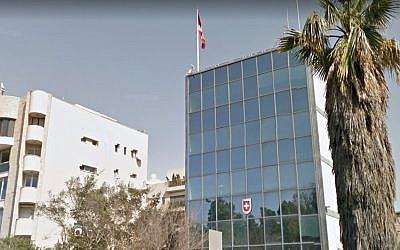 The Swiss embassy in Tel Aviv (Google Streetmap)