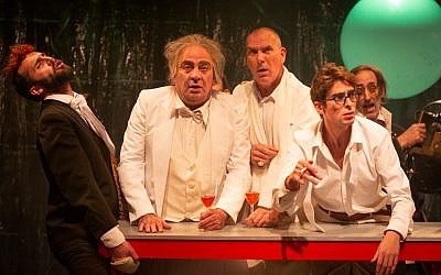 Still from the new Khan Theatre production of Natan Alterman's 1959 play, 'The Inn of Ghosts.' (Yael Elon)