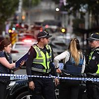 Illustrative: Australian police at a crime scene in Melbourne on November 9, 2018. (William West/AFP)
