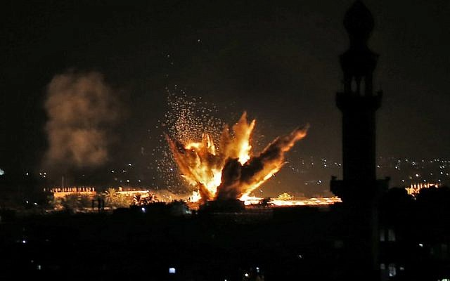 IDF strikes Gaza after 200 rockets fired at Israel, 60 intercepted
