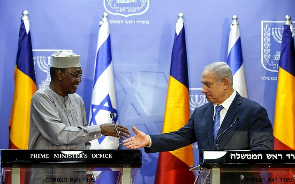 Chad said to condition resumed ties with Israel on 'extensive' weapons sales