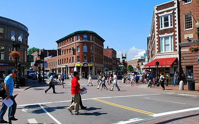 Harvard Square in Cambridge Massachusetts, seen in 2009. (CC BY-SA Wikimedia Commons)