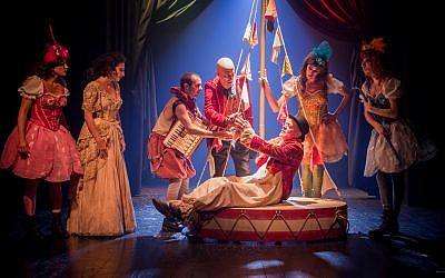 Still from the Jerusalem-based Khan Theatre production of Nissim Aloni's 'Napoleon Dead or Alive.' (Yael Elon)