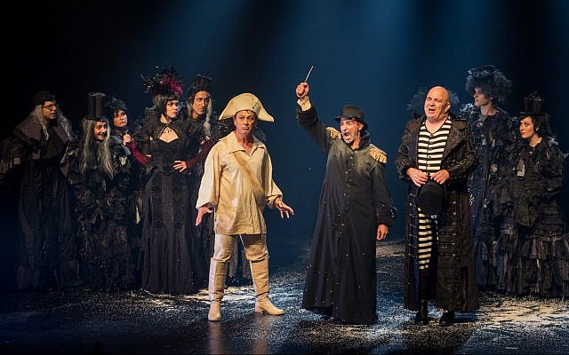 Still from the Jerusalem-based Khan Theatre production of Nissim Aloni's 'Napoleon Dead or Alive.' (Yael Elon)