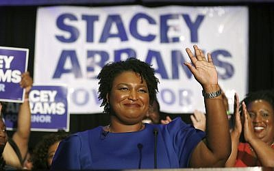 Democratic candidate for Georgia governor Stacey Abrams at a campaign event in Atlanta, May 22, 2018. (AP Photo/John Bazemore, File)