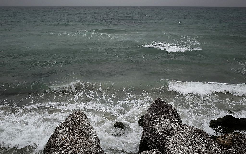 This April 14, 2018 photo shows the beach from where migrants leave for Italy, in the town of Ras Jabal, Bizerte, Tunisia. (AP Photo/Nariman El-Mofty)