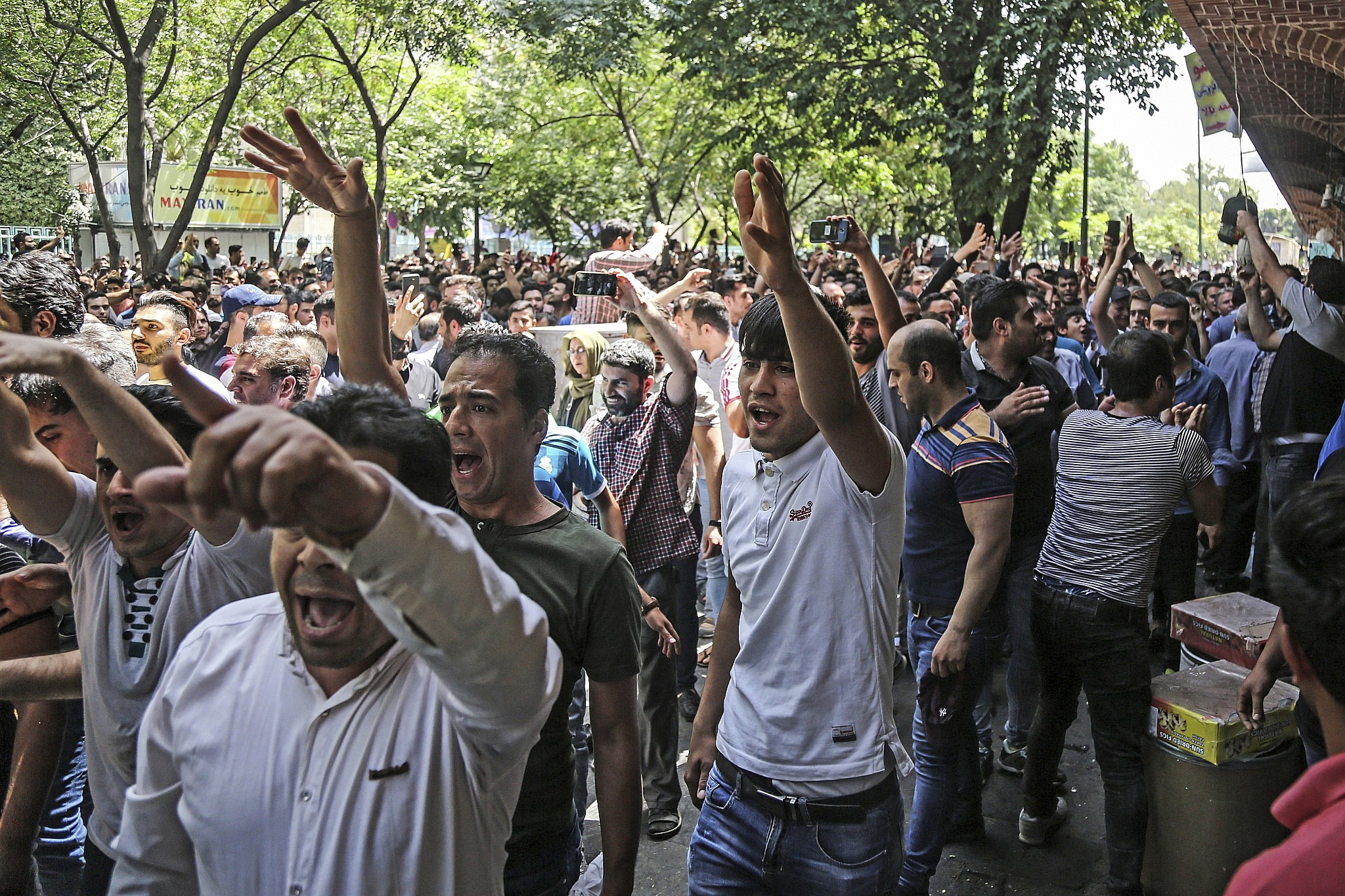 Iranians chant 'death to America' on eve of biting sanctions