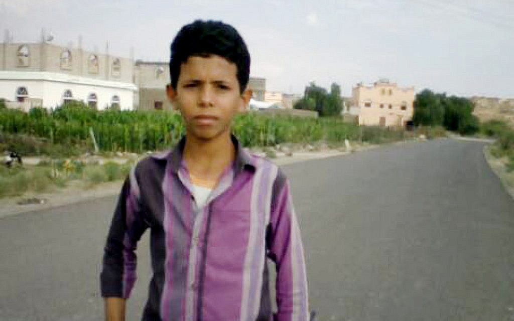 This 2018 handout image provided by the al-Hassbi family, shows a photo of Yahia al-Hassbi, who was killed in a drone strike, in Yemen (al-Hassbi family via AP)