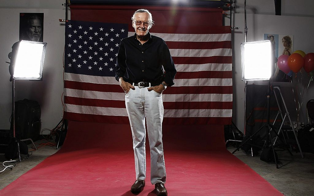 Stan Lee poses for a portrait at the LMT Music Lodge during Comic Con in San Diego, July 21, 2011. (Matt Sayles/AP)