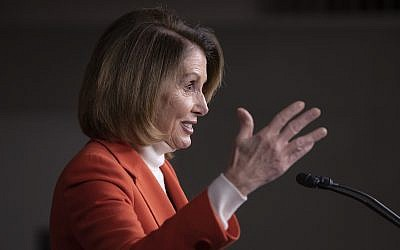 US House Minority Leader Nancy Pelosi, D-California, talks to reporters during a news conference at the Capitol, in Washington, DC, November 15, 2018. (AP Photo/J. Scott Applewhite)