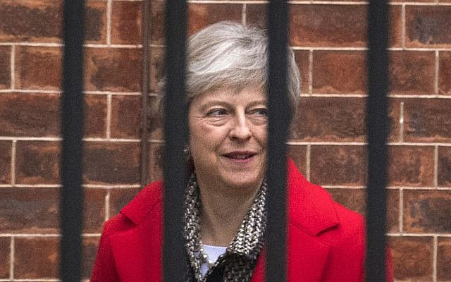 Britain's Prime Minister Theresa May leaves Downing Street in London, Friday, Nov. 16, 2018. (Dominic Lipinski/PA via AP)