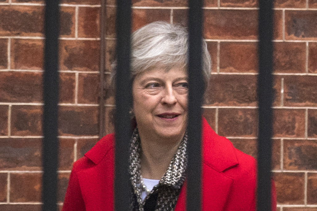 British PM Theresa May heading for Brussels for talks on future ties