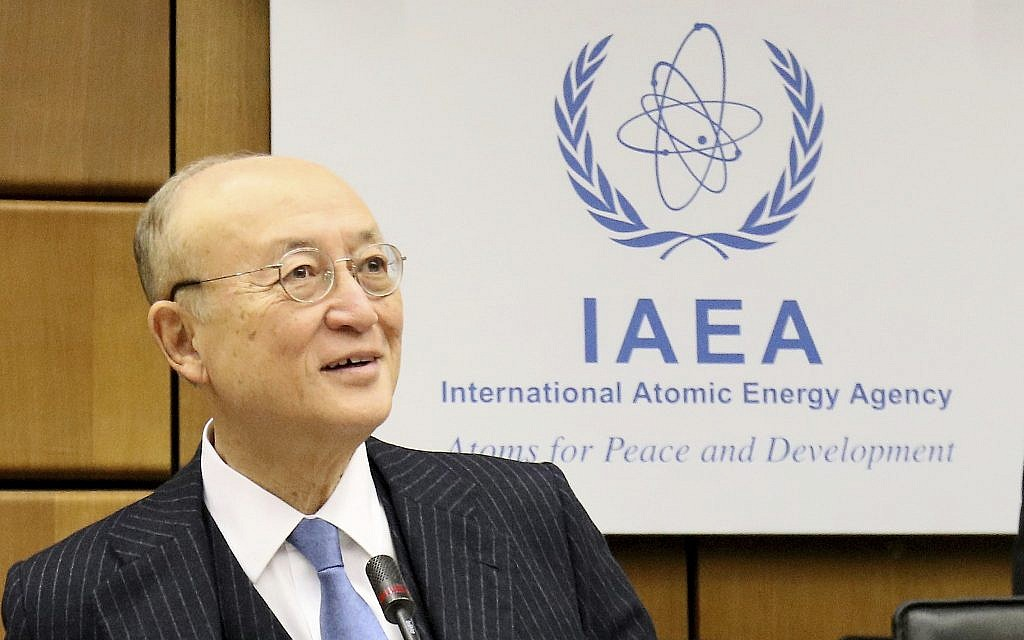 UN nuclear watchdog say Iran staying within limits of 2015 deal   The Times of Israel