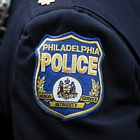 A Philadelphia Police Department patch in Philadelphia, May 3, 2017. (AP Photo/Matt Rourke)