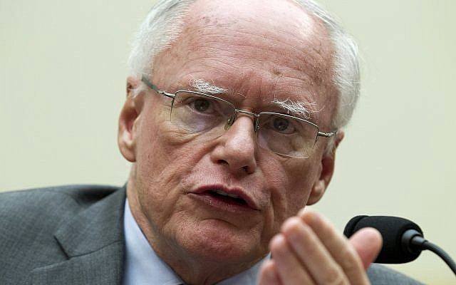 James Jeffrey speaks during a hearing on Iran before the House Foreign Affairs Committee at Capitol Hill in Washington on October 11, 2017. (AP Photo/Jose Luis Magana)