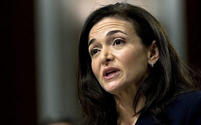Facebook COO Sheryl Sandberg testifies before the Senate Intelligence Committee hearing on 'Foreign Influence Operations and Their Use of Social Media Platforms' on Capitol Hill, Washington, on September 5, 2018. (AP/Jose Luis Magana)