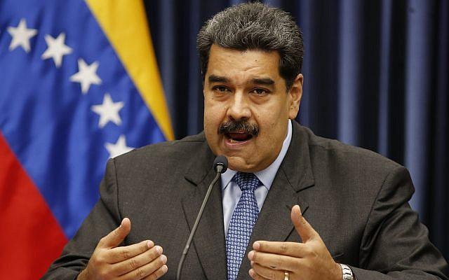 President Nicolas Maduro of Venezuela speaks during a press conference at the Miraflores Presidential Palace, in Caracas, Venezuela, September 18, 2018. (AP/Ariana Cubillos)