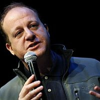 Jared Polis, Democratic candidate for Colorados governorship, speaks during the first stop of a statewide bus tour to drum up support among Democrats Friday, Oct. 26, 2018, in Silverthorne, Colo. (AP Photo/David Zalubowski)