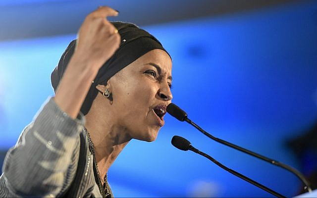 Democrat Ilhan Omar speaks after winning in Minnesota's 5th Congressional District race during the election night event held by the Democratic Party on November 6, 2018, in St. Paul, Minnesota. (AP Photo/Hannah Foslien)