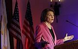 US Sen. Dianne Feinstein speaks at an election night event in San Francisco, Tuesday, Nov. 6, 2018. (AP Photo/Jeff Chiu)