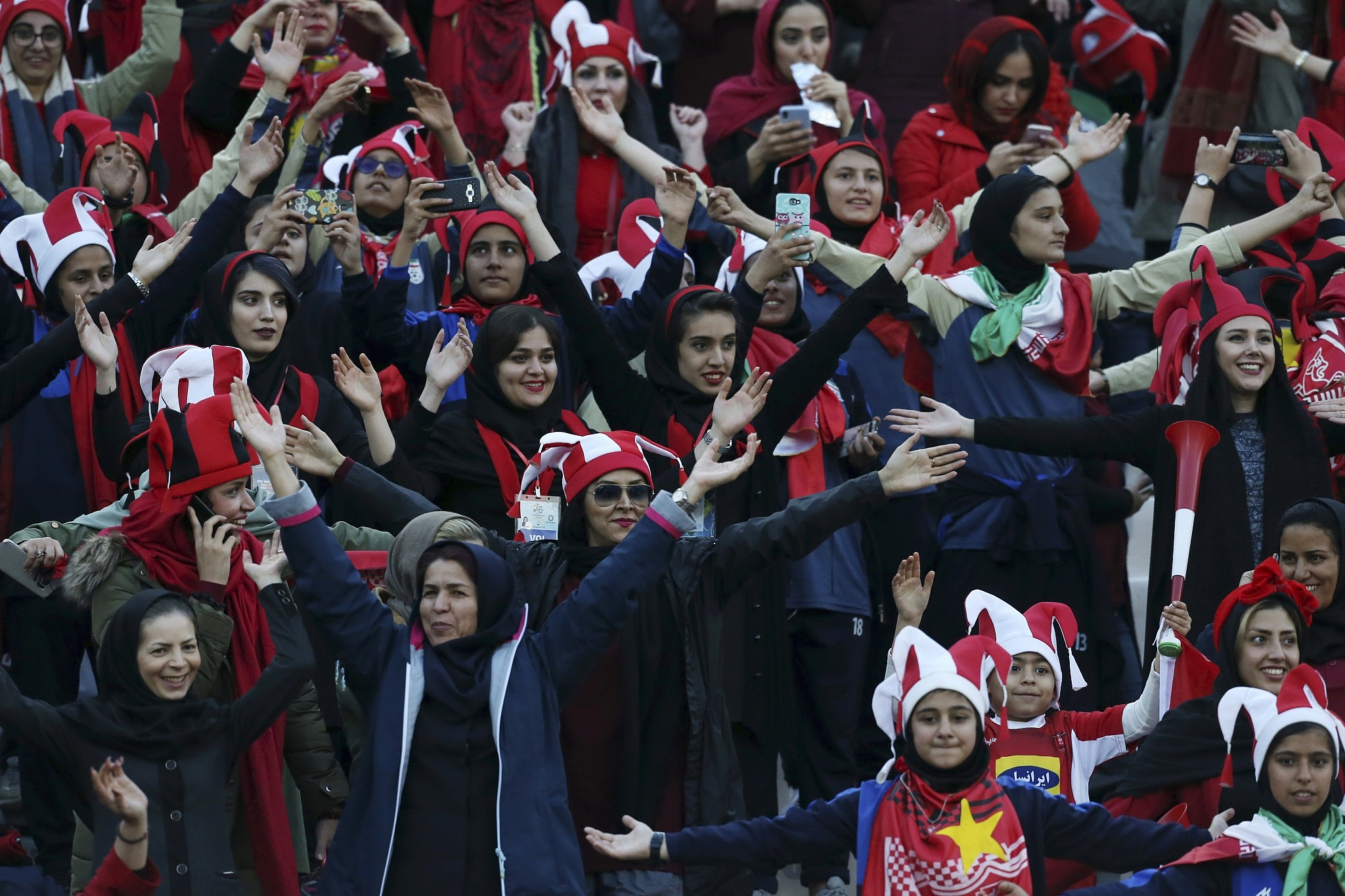 In First Iran Allows Women To Attend Major Soccer Match In Tehran The Times Of Israel
