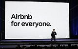 Airbnb co-founder and CEO Brian Chesky speaks during an event in San Francisco, on February 22, 2018. (AP Photo/Eric Risberg, File)