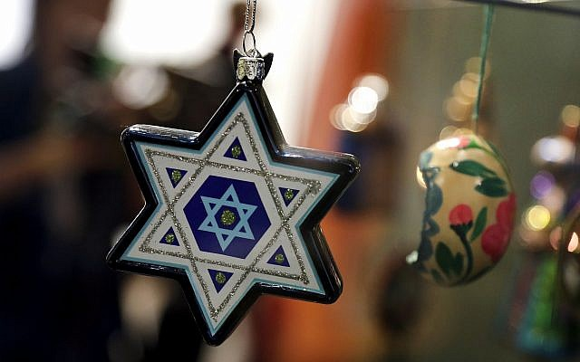 Christmas tree decorations are displayed at the German Historic Museum in Berlin, Germany, Friday