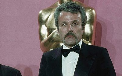 William Goldman after winning the Oscar for best Screenplay from another medium for 'All the President's Men' at the 49th Academy Award presentation at Los Angeles Music Center, March 28, 1977.(AP Photo/Pendergrass)