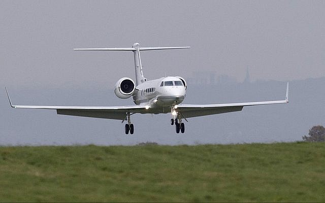 Illustrative: A private jet lands at Biggin Hill Airport, London (AP Photo/Tim Ireland)