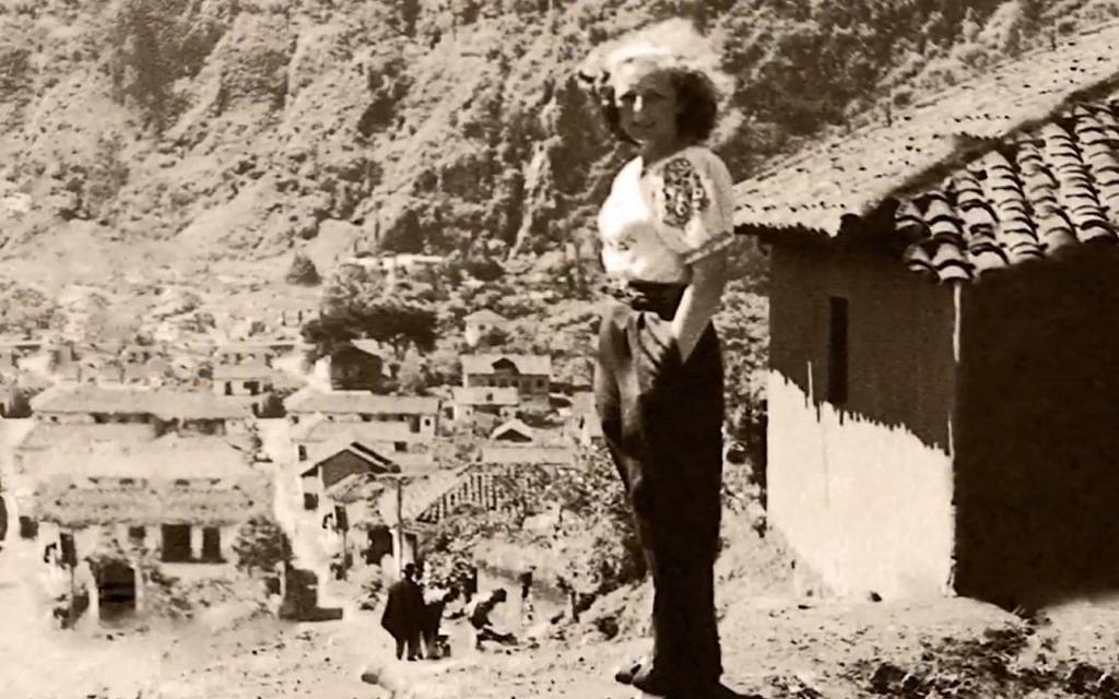 Czech artist Trude Sojka in Ecuador, 1946. (Courtesy Eva Zelig)