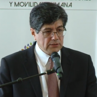 Ecuadorian Foreign Minister Jose Valencia speaks at en event in the capital of Quito on November 9, 2018, to restore Manuel Antonio Munoz Borrero as a member of the country's diplomatic service. (Screen capture: YouTube)