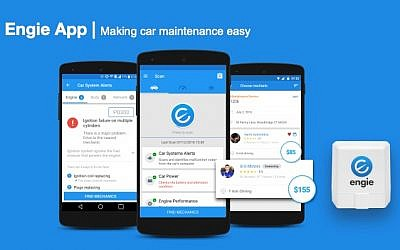 The Engie software and app lets car owners or car-fleet managers know if their vehicles need servicing (Courtesy)