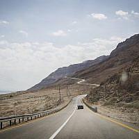 Route 90 along the Dead Sea, September 30, 2014. )Hadas Parush/Flash90)