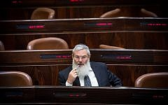 Jewish Home party member Eli Ben-Dahan at a Knesset plenum session on July 7, 2015. (Miriam Alster/Flash90)