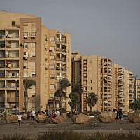 Illustrative photo of buildings in Kiryat Yam, near Haifa, September 14, 2015. (Hadas Parush/Flash90)