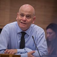 Knesset legal adviser Eyal Yinon attends a Knesset committee meeting on June 6, 2016. (Hadas Parush/Flash90)
