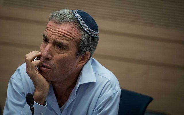 Knesset Member Elazar Stern. (Hadas Parush/Flash90)