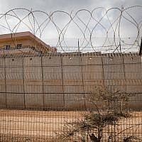 The border fence between Israel and Lebanon is seen outside the northern Israeli community of Metula on November 19, 2017. (Hadas Parush/Flash90)
