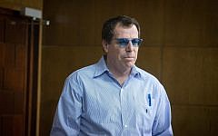 Lt. Col. (res.) Boaz Harpaz arrives for a court hearing at the Tel Aviv Magistrate's Court on March 15, 2018. (Miriam Alster/Flash90)