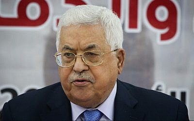 Palestinian Authority President Mahmoud Abbas at a meeting in the West Bank city of Ramallah on October 28, 2018. (Flash90)