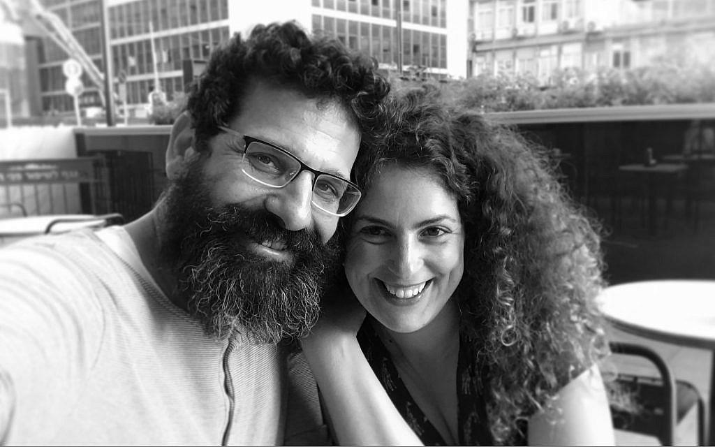 Boaz Yehonatan Yacov, left, and filmmaker Tsivia Barkai Yacov. (Courtesy)