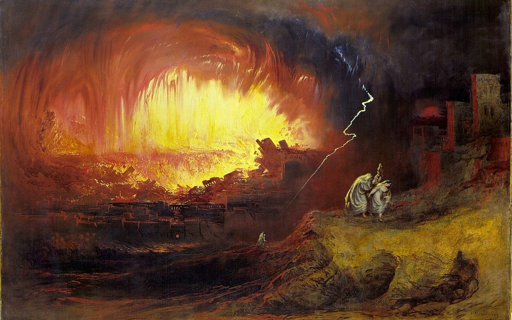 John Martin's 'Destruction of Sodom and Gomorrah,' 1852. (public domain, via Wikipedia)