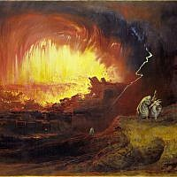 John Martin's 'Destruction of Sodom and Gomorrah,' 1852. (public domain, via Wikipedia)