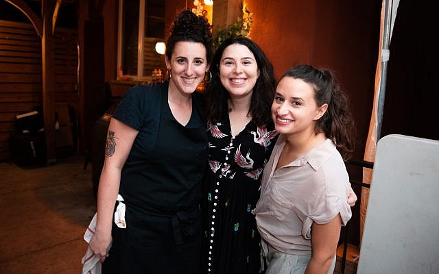 Musket Club founders, from left: Adina Halpern, Rachel Margolin, and Danielle Brody. (Hanoch Melamed Cohen)