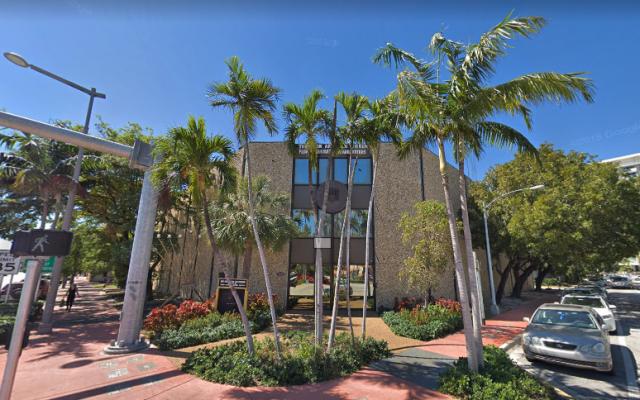 The West Avenue Jewish Center in Miami Beach, Florida. (Screen capture: Google Maps)