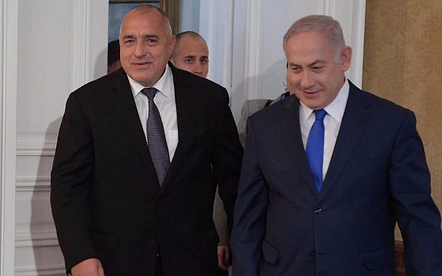 Prime Minister Benjamin Netanyahu meets with Bulgarian Prime Minister Boyko Borisov at the Evksinograd Palace in Varna, Bulgaria, November 2, 2018. (Amos Ben Gersom, GPO)